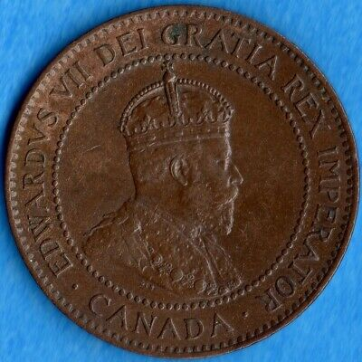 Canada 1903 1 Cent One Large Cent Coin - EF/AU
