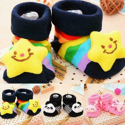 Baby Girl Boy Anti-slip Sock Cartoon Slipper Shoes 0-12 Cosy Month Newborn E5G1