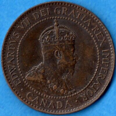 Canada 1904 1 Cent One Large Cent Coin - EF