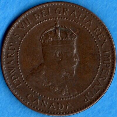 Canada 1906 1 Cent One Large Cent Coin - EF