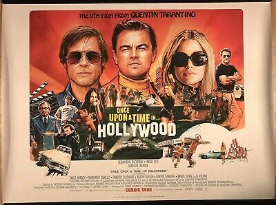 ONCE UPON A TIME IN HOLLYOOD TARANTINO POSTER A4 A3 A2 A1 CINEMA MOVIE
