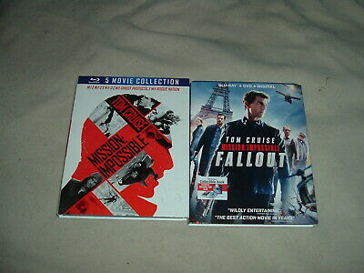 Mission Impossible 1 2 3 4 5 6 BLURAY LOT SET Tom Cruise Fallout