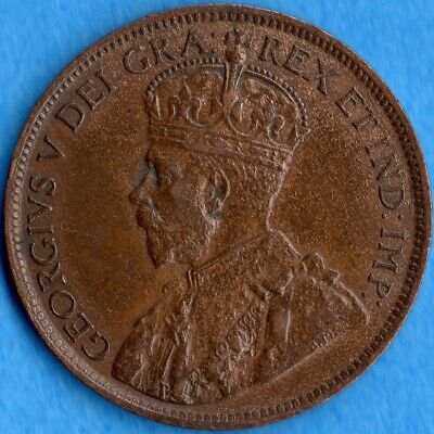 Canada 1916 1 Cent One Large Cent Coin - EF/AU