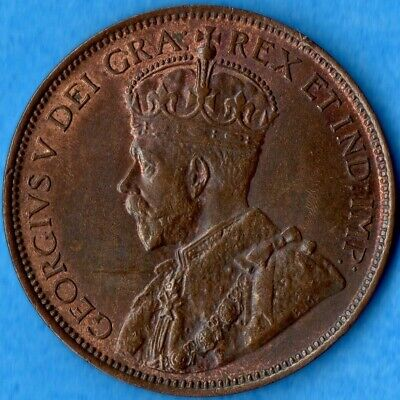 Canada 1917 1 Cent One Large Cent Coin - MS-62