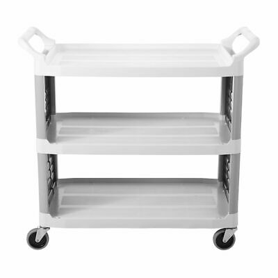 Rubbermaid FG409200O Xtra 2-Side Enclosed Utility Cart
