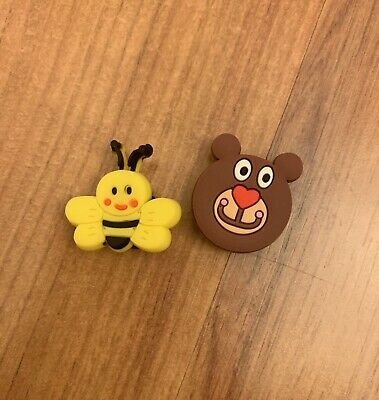 Bumblebee And Bear Croc Shoe Charm Set Of Two