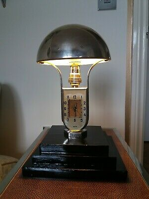 Stunning Art Deco Chrome Modernist Mofem Table /desk Light