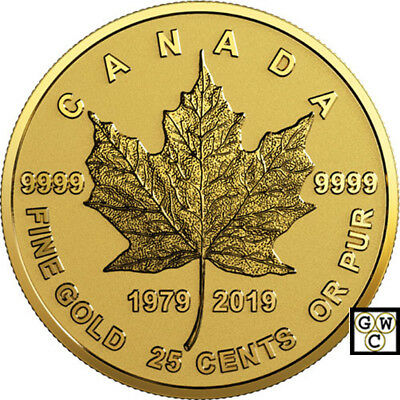 2019 '40th Ann. of the GML' Reverse-Proof 25-Ct Fine Gold 1/2 gram Coin (18588)