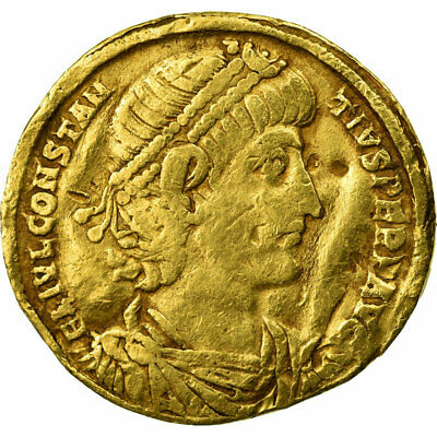 [#653756] Coin, Constance II, Solidus, Antioch, F(12-15), Gold, RIC:83