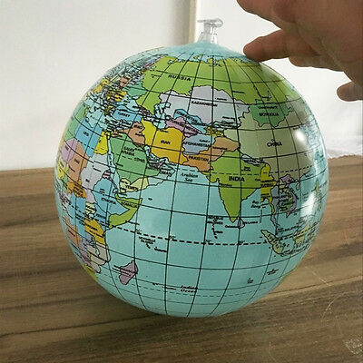 Inflatable World Globe Earth Map Teaching Geography Map Beach Ball Kids Toy T0D5