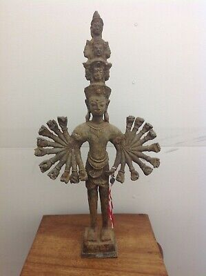 "Asian ""multi faced"" bronze antique 20x arm ""Hindu"" Budda"