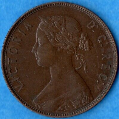 Canada Newfoundland 1876 H 1 Cent One Large Cent Coin - EF