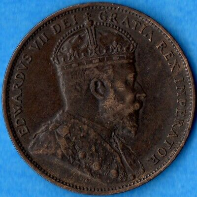 Canada Newfoundland 1904 H 1 Cent One Large Cent Coin - EF