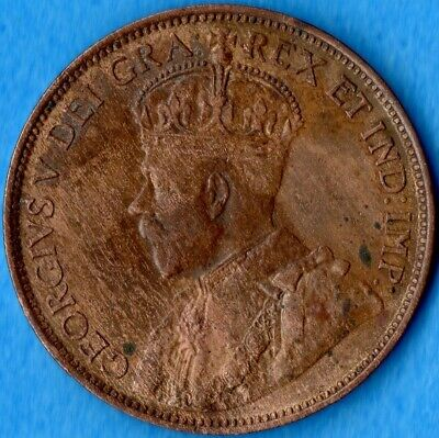Canada 1914 1 Cent One Large Cent Coin - AU