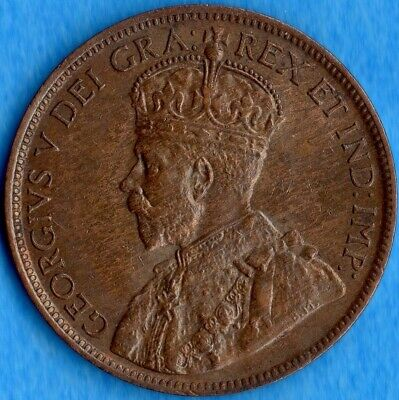 Canada 1918 1 Cent One Large Cent Coin - Uncirculated