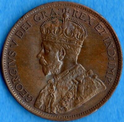 Canada 1919 1 Cent One Large Cent Coin - Uncirculated