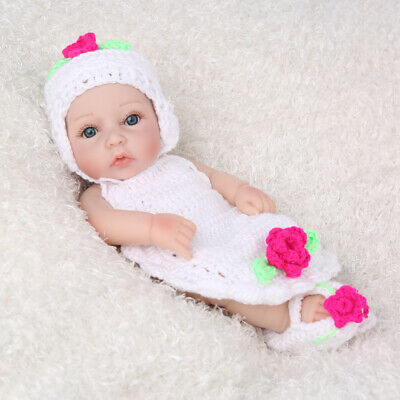 "10"" 25cm Reborn Baby Dolls Full Vinyl Silicone Newborn Lifelike Doll Bathing Toy"