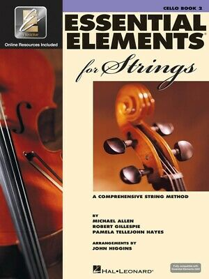 ESSENTIAL ELEMENTS For Strings Cello Book 2 *NEW* Inc. Play Along EEI