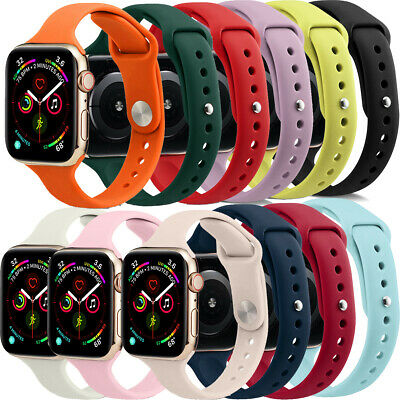 8 in Pack Replacement Silicone Wrist Band Strap For Apple Watch Series 4/3/2/1