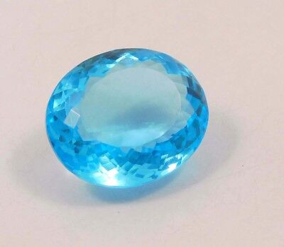 28 ct Awesome Treated Faceted Aquamrine Cab Loose Gemstones RM13808