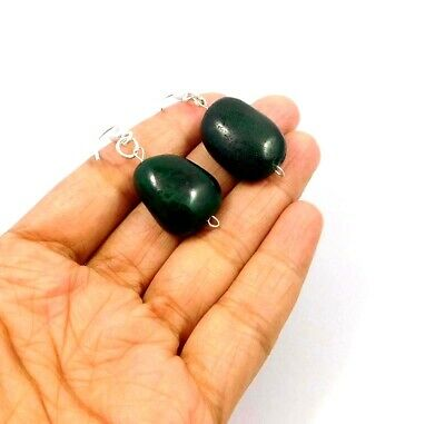 Dyed Emerald .925 Silver Plated Handmade Designer Earring Jewelry JC10008