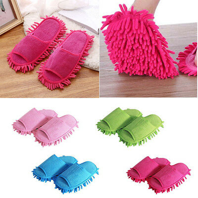 1 Pair Creative Floor Shoes Mop Slippers Lazy Quick Polishing Cleaning Dust