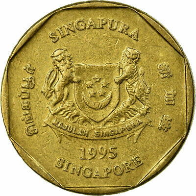 [#673045] Coin, Singapore, Dollar, 1995, Singapore Mint, EF(40-45)