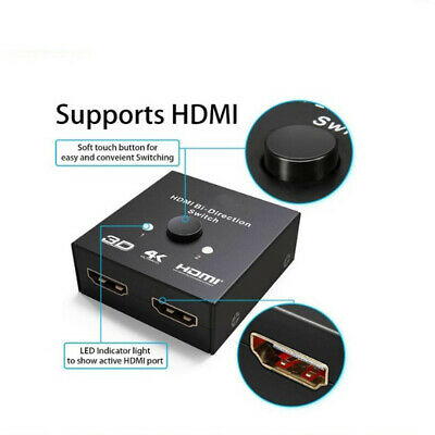 HDMI SWITCH - Techole HDMI Splitter Bidirectional 1 In 2 Out