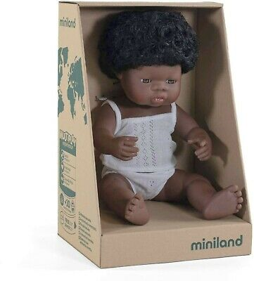 Miniland Baby Doll African Girl 38cm Vanilla Scented Anatomically Correct