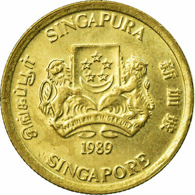 [#670870] Coin, Singapore, 5 Cents, 1989, British Royal Mint, EF(40-45)