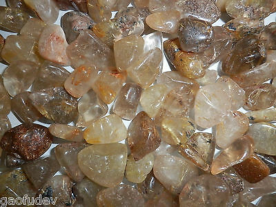 Tumbled Rutilated Quartz Crystal Stone 1.5 to 9.4 g small pieces 180 gram Lot