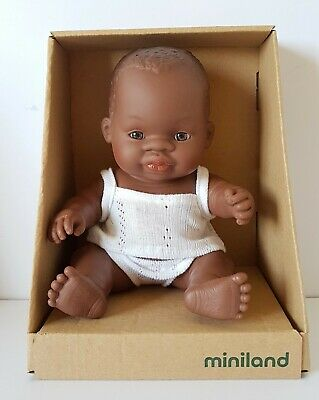 Miniland Baby Doll African Girl 21cm Vanilla Scented Anatomically Correct