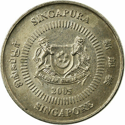 [#694782] Coin, Singapore, 10 Cents, 2005, Singapore Mint, EF(40-45)