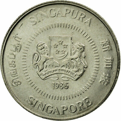 [#447868] Coin, Singapore, 10 Cents, 1986, British Royal Mint, EF(40-45)