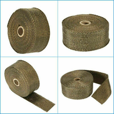 2000F Exhaust Heat Wrap Titanium Gold 10M*50MM +10 Stainless Ties Insulation AU