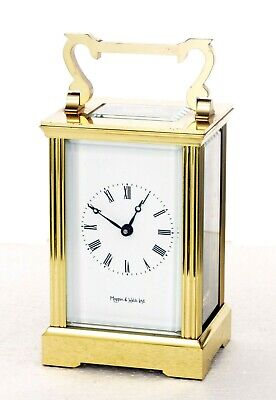 Charles Frodsham / Mappin & Webb Gilt Brass Carriage Clock,  Working Well