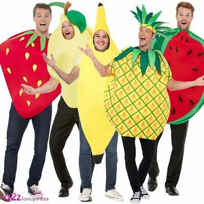 Adulto ANANAS Tabard Costume Unisex SUMMER FRUIT Festival Costume Vestito