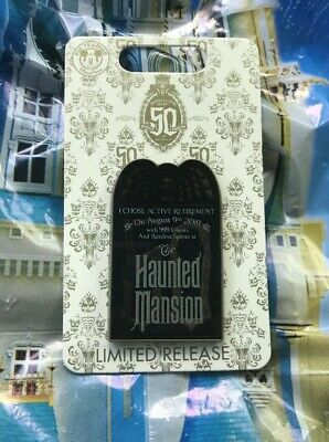 Disney Haunted Mansion 50th Anniversary Event Day Pin Limited Release New