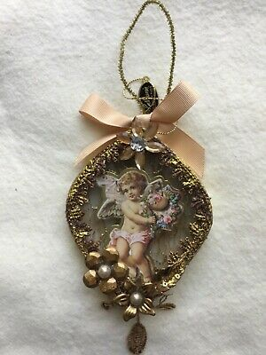Katherine's Collection Vintage Shadow Box Cupid Ornament Retired Rare