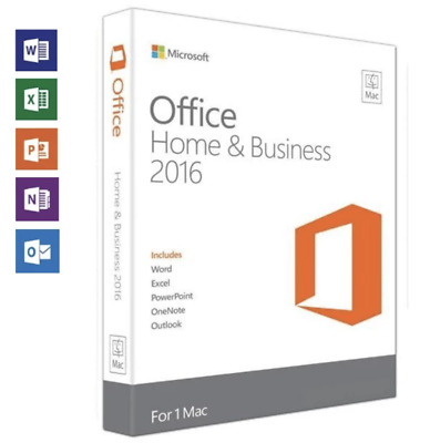 Microsoft Office Home and Business 2016 For Mac - INSTANT DELIVERY