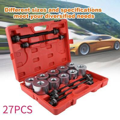 Car Universal Bush Bearing Removal Insertion Tool Set Press Pull Sleeve Kit 27PC