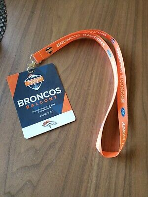 DENVER BRONCOS Balcony NFL Training Camp 2019 and Ford Badge Guest LANYARD