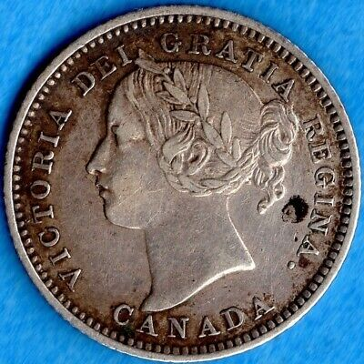 Canada 1896 10 Cents Ten Cent Silver Coin - Very Fine