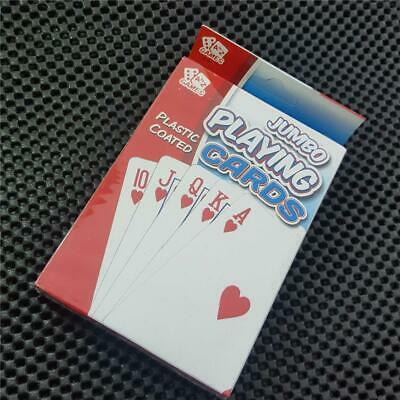 EXTRA LARGE PLAYING CARDS BIG JUMBO GIANT GAMES OLD AGE INFIRM XL bridge poker