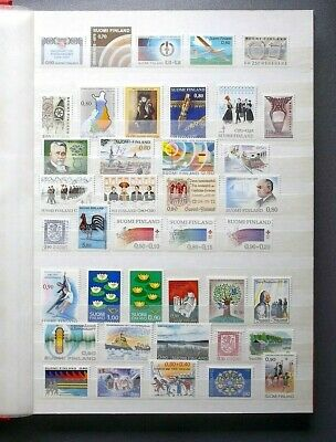 Lot collection timbres neufs Suomi Finlande 5 pages album