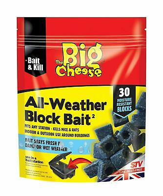 Big Cheese Poison Block Bait Killer  Strong Strength  Rat Mouse Rodent Control