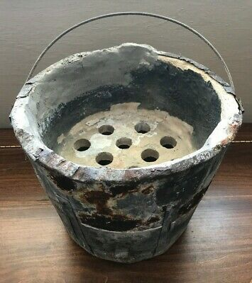 Clay Chinese Japanese Asian Wok Rice Bucket Primitive Stove Stone Metal Heavy