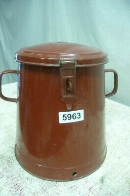 5963. Alter Emaille Email Topf Old enamel pot
