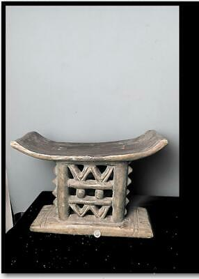 Old Tribal Large Asante Prestige Stool      --  BN 54