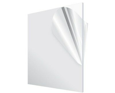 """Acrylic Plexiglass Plastic Sheet 0.220"""" - 1/4"""" Thick - You Pick The Size Clear"""